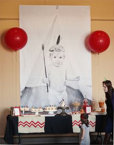 pow wow party table