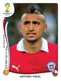 159 Arturo Vidal - Chile - MUNDIAL BRASIL 2014