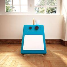 Herr Bites⎜Mesilla con cajon y puerta⎜Muebles divertidos y llenos de color para niños de moebelebt en Etsy Side Table With Drawer, Colorful Furniture, Nightstand, Drawers, Children, Etsy, Plushies, Furniture, Colors