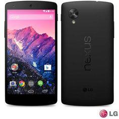 """Smartphone LG Nexus 5 com Android ™ 4.4, Processador Qualcomm SnapDragon™, Câmera de 8 MP, Tela Smart TV LG 5"""" Full HD, Wi-Fi e 4G"""