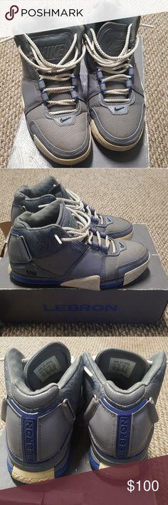 7460ebb9ab5c3 LeBron James Zoom 2 Mens 8.5 Cool grey 2004 Nike Shoes Athletic Shoes  Lebron James