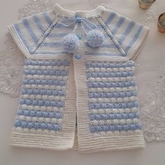 Two Color Knitted Baby Vest Models 2018 - Bebek yelek - Child Fashion Crochet Baby Sweaters, Crochet Baby Cardigan, Knitted Baby, Baby Knitting Patterns, Moda Black, Kids Fashion Blog, Child Fashion, Crochet For Kids, Kids Wear