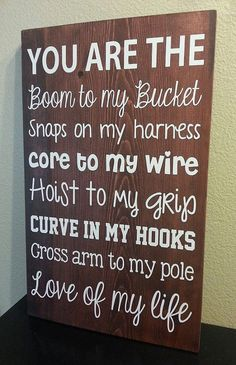 Lineman's Wife/Girlfriend 12x18 Sign by rusticexpressionsid