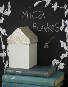 Cheap gift boxes + paint and glitter