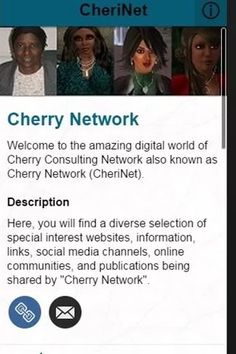 """CheriNet App aka CheriNet , an information-sharing mobile app is now live on Google Play! It was created to share content created or information discovered within various real life and 3D virtual world communities. You are invited to download it to your Android smartphone or tablet! It has been loaded it with some helpful features and links. New content will be added to the app on a regular basis. So, give it a try and explore the growing """"Cherry Network""""! Facebook Business, Social Media Channels, Business Pages, You Are Invited, Android Smartphone, Virtual World, Google Play, Mobile App, Real Life"""