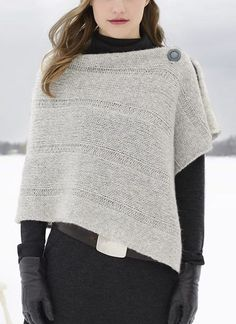 "Free Until Dec. 31 2017 Easy Sasha Wrap Knitting Pattern - Free until Dec. 31, 2017 with coupon code sasha13. Rectangular shawl in bulky weight yarn. 2 sizes S/M (M/L) Width: 20 (24)"" Length: 52 (52)"". Designed by Sarah Smuland. Rated easy by Ravelrers"