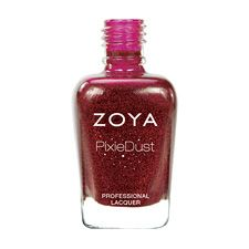 Zoya Nail Polish in Chyna can be best described as a red dazzle with a sugared sparkle, in the exclusive Zoya PixieDust Matte Sparkle formula.