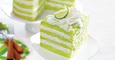 Discover the refreshing flavor of key lime cake made with Pillsbury™ Moist Supreme® Key Lime Flavored Premium Cake Mix. Available at Walmart.