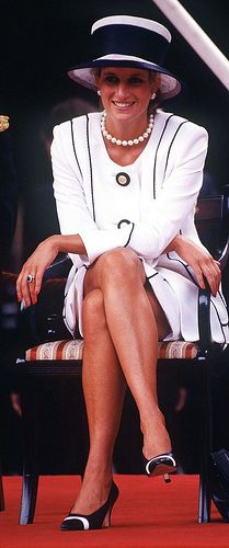 August 19, 1995: Princess Diana at the commemoration of VJ Day in London.