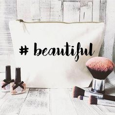 This item is unavailable - Hashtag makeup bag- Cosmetic bag- Unique gift- Toiletry bag- large cosmetic bag- Inspirational quote- Personalised cosmetic bag-Quote bag Source by Makeup Pouch, Makeup Case, Nyx Makeup, Gold Makeup, Makeup Geek, Makeup Remover, Teen Makeup, Makeup Artist Tips, Makeup Tools