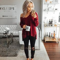 Casual Outfit Ideas To Finish This Fall With Style 30 Komplette Outfits, Casual Outfits, Fashion Outfits, Fashion Trends, Fall Winter Outfits, Autumn Winter Fashion, Moda Chic, Moda Plus Size, Christmas Fashion