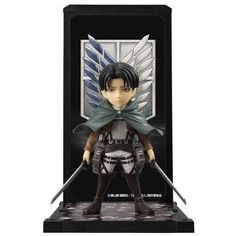 This is an officially licensed Bandai Attack on Titan Tamashii Buddies Levi Ackerman Figure. The Levi Ackerman figure is perfect for any fan of the Attack on Titan franchise. Standing roughly 4 inches