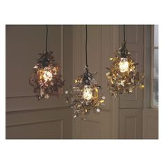 GARLAND Copper etched metal floral ceiling light shade   Buy now at Habitat UK