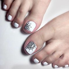 Looking for new and creative toe nail designs? Let your pedi always look perfect. We have a collection of wonderful designs for your toe nails that will be appropriate for any occasion. Be ready to explore the beauty and endless creativity of nail art! Pedicure Designs, Pedicure Nail Art, Toe Nail Designs, Nails Design, Pretty Toe Nails, Cute Toe Nails, Pretty Toes, Tribal Toes, Edgy Nail Art