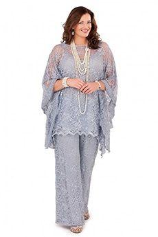 Pant Suits Bateau Ankle-length Lace Mother of the Bride Dress