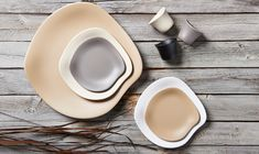Featuring sophisticated hues and organic shapes, Steelite's Marisol collection redefines the look of melamine dinnerware. Melamine Dinnerware, Tableware, Commercial Kitchen Equipment, Hospitality Design, Patio Dining, Organic Shapes, Cup And Saucer, Restaurant, Ranges