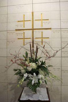 All Saints Day columbarium flowers: