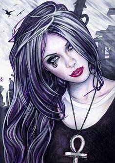 Death Sketch - Sandman Comics by ~veripwolf on deviantART