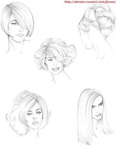 Trendy fashion design sketches hair how to draw ideas Fashion Design Sketchbook, Fashion Design Drawings, Fashion Sketches, Fashion Illustration Hair, Fashion Figure Templates, Fashion Figure Drawing, Hair Sketch, Designs To Draw, Trendy Fashion