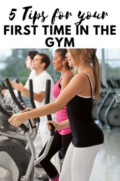 5 easy and simple tips to survive your first day at the gym. The first day can be intimidating but do not give up, with these tips, you will be prepared to succeed! Learn the simple ways to plan ahead for the first workout. Excel at your weight loss or fi Fit Girl Motivation, Weight Loss Motivation, Fitness Motivation, Weight Loss For Women, Weight Loss Tips, Lose Weight, Group Fitness, Fitness Goals, Body After Baby