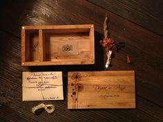 леревянная шкатулка для свадебных фотографий. материал дуб.