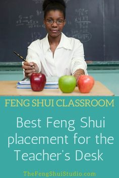 In a Feng Shui Classroom the teacher takes control of the space by placing the desk in the Power Position, the best Feng Shui placement for the Teacher's desk. Feng Shui Desk, Feng Shui Studio, Feng Shui Wall Art, Feng Shui Bedroom, Feng Shui Basics, Feng Shui Rules, Feng Shui Principles, Feng Shui Tips, Owl Theme Classroom