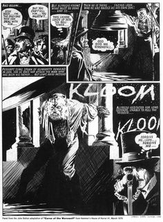 Brian Bolton comic art for THE CURSE OF THE WEREWOLF (1961)