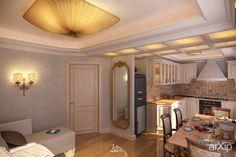 Studio in private apartments in Zaporozhye (Ukraine) - view_02: интерьер, зd визуализация, квартира, дом, ар-деко, 20 - 30 м2, студия, интерьер #interiordesign #3dvisualization #apartment #house #artdeco #20_30m2 #studio #atelier #interior arXip.com