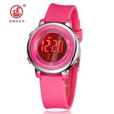 Children's Watch OHSEN Brand Digital LED Kid Clock Fashion Sport Watch Cute Wrist watch Waterproof Gift Watch Alarm Hand Clock //Price: $14.95 & FREE Shipping //     #hashtag1