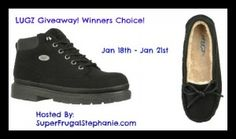 http://www.superfrugalstephanie.com/2014/01/giveaway-enter-to-win-a-pair-of-lugz-shoes/