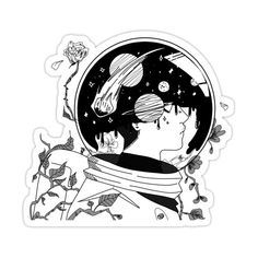 Aesthetic Space, Aesthetic Drawing, Space Illustration, Illustrations, Space Drawings, Art Drawings, Drawing Art, Outer Space Crafts For Kids, Astronaut Drawing