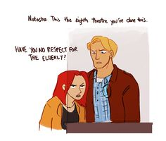 Natasha Romanoff counts it as a win every time she convinces someone to give Steve Rogers a senior's discount.