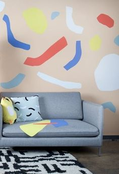 Dusen Dusen x Visual Magnetics Turns Your Walls Into Giant Colorforms Magnetic Wall, Living Room Decor Inspiration, Modular Design, Wand, Design Elements, Sofas, Playroom, Magnets, Wall