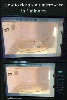How to Clean Your Microwave with Vinegar and Steam.  Using just water and vinegar, easily clean your microwave in only 5 minutes!