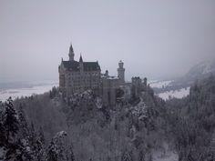 Schloß #Neuschwanstein #Füssen #Germany #Castle #snow #winter #landscape