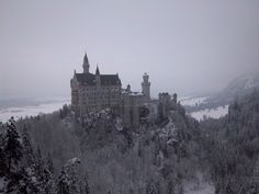 Schloß #Neuschwanstein #Füssen #Germany #Castle #snow #winter #landscape