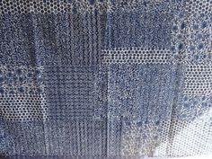 Indigo Color Hand Block Printed Kantha Quilt, Queen Patchwork Cotton Bedding #Handmade #ArtsCraftsMissionStyle