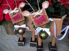 Reindeer-made from 2x4s - cute!