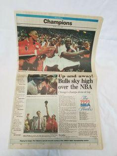 1991 Chicago Tribune Chicago Bulls Championship Newspaper Section 28 pages Chicago Bulls Championships, Chicago Tribune, Jordan, Trinidad And Tobago, Newspaper, New Zealand, Fun Facts, Seasons, Ebay