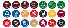 Religion Icon A lot of religious symbols (judaism, christianity, islam, budhi , Religious Symbols, Ancient Symbols, Menorah, Islam, Age Of Enlightenment, Les Religions, Taoism, Judaism, Human Nature