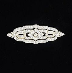 This diamond brooch was an heirloom passed down to Jackie from her mother, Janet Norton Lee Bouvier. Janet came from a wealthy family, and luxury items were not as readily available in the U.S. as they were in Paris. Janet would travel to Paris twice a year to shop for clothes and jewelry. Janet passed it along to Jackie sometime in 1958 or 1959.  It was Janet's custom to give family jewelry to her heirs while she was still alive so that she could see her children wear and enjoy the pieces.