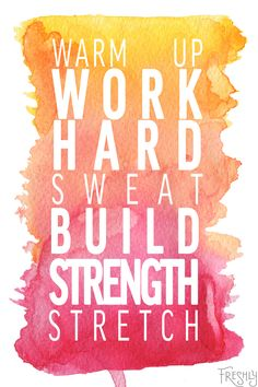 Daily Fitness Motivation: Work hard, build strength. It's not always going to be easy, but it'll be worth it.