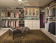 best walk in closet designs:comely best vintage walk in closet design cream colored ceiling with fan squared italian area rug pattern wood wardrobe with shoes case classic brown