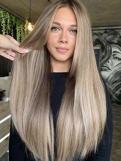 Blonde Hair Looks, Brown Blonde Hair, Sandy Blonde, Beige Blonde Balayage, Balayage Straight Hair, Brunette Hair, Light Hair, Light Brown Hair, Golden Brown Hair