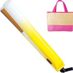 Instantly straighten and shine your hair with this one inch ceramic flat iron by Ultra CHI. Chi Hair Straightener, Hair Straightening Iron, Yellow Flats, Ceramic Flat Iron, Hair Blog, Glitz And Glam, Hair Tools, Bath And Body, Salons