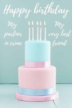 150 Ways to Say Happy Birthday Best Friend - Funny and heartwarming Birthdays happy birthday friend Cute Happy Birthday Wishes, Happy Birthday Best Friend Quotes, Happy Birthday For Her, Birthday Wishes For Myself, Funny Birthday, Birthday Images, Birthday Greetings, Birthday Sayings, Birthday Posters