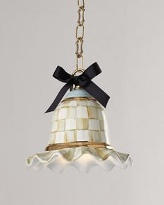 Small Parchment Check Pendant Lamp by MacKenzie-Childs at Horchow.  It's so cute!