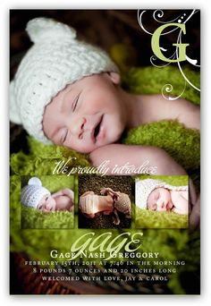 Baby Boy or Girl Customizable four picture by JamesPaigeDesign