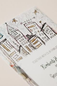 Oh So Beautiful Paper: Kim + Garrett's Whimsical Illustrated NYC Wedding Invitations