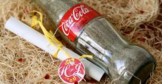 You know it's going to be a fun wedding when the invitation arrives in a Coca-Cola bottle with sand, an island map, and smells of sweet piñ...